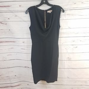 MARA HOFFMAN Black Drape Neck Mini Dress